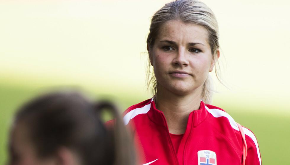 I KONFLIKT: Andrine Hegerberg var involvert i en personalsak i 2017 med det norske landslaget.  Foto: Berit Roald / NTB scanpix