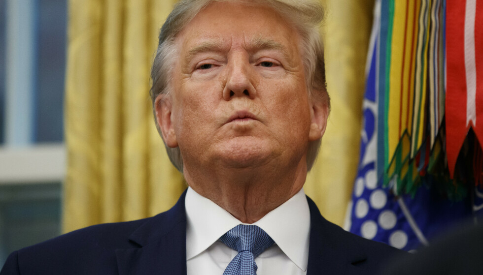 KRITISK: USAs president, Donald Trump, er sterkt kritisk til at Tyrkia nå går inn med militære styrker i Syria. Foto: AP / Alex Brandon / NTB Scanpix