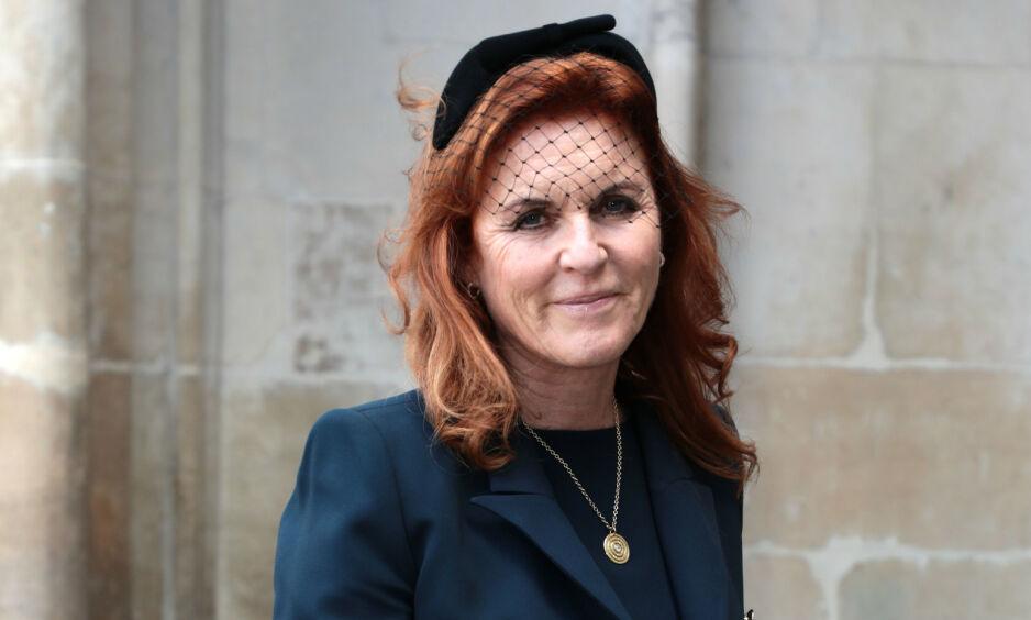 AVSLØRER KOSMETISKE INNGREP: I anledning sin kommende 60-årsdag, avslører hertuginne Sarah at hun har gjort flere kosmetiske inngrep. Her er hun avbildet i juni 2017. Foto: NTB Scanpix