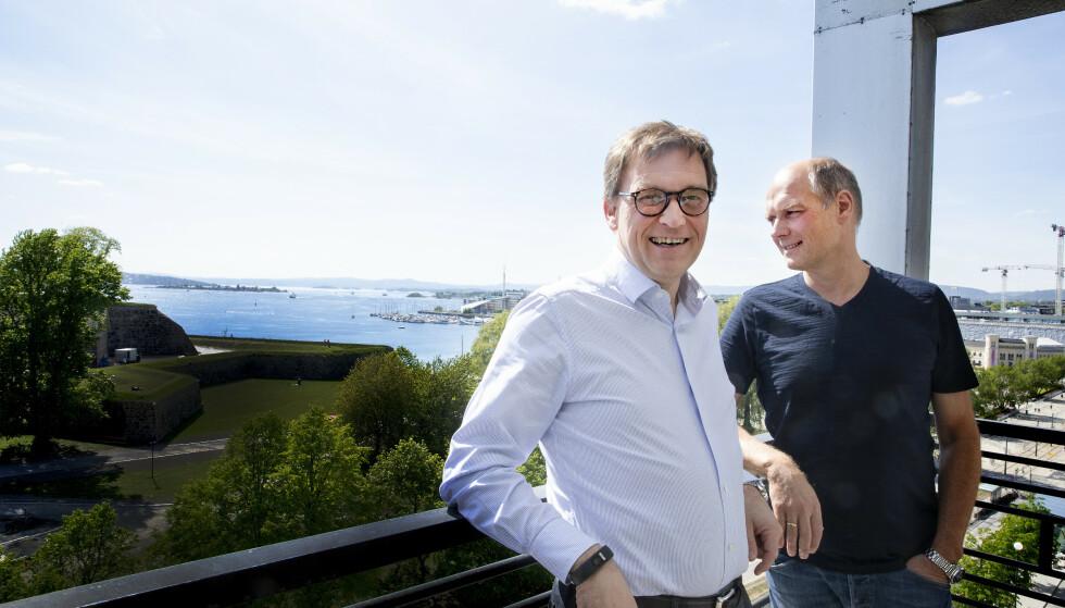 SELGER: Brødrene Roger og Kristian Adolfsen selger 170 barnehageeiendommer. Foto: Foto: Kristin Svorte