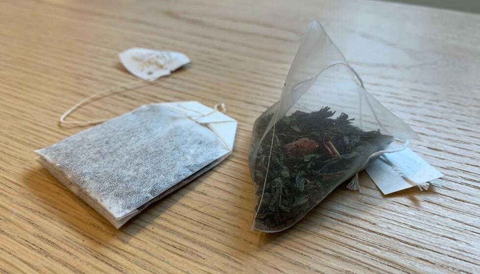 PAPIR ELLER PLAST? Både form og materiale kan påvirke smaken. Foto: Elisabeth Dalseg