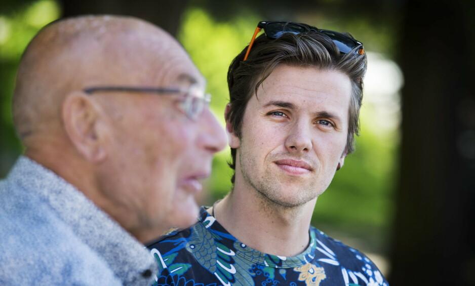 PÅ REISE: Eventyreren Samuel Massie er for tida i India med bestefaren Arne Ulvolden. Torsdag fikk de en brutal opplevelse. Foto: Henning Lillegård / Dagbladet