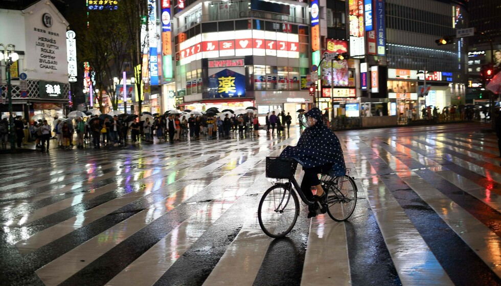 <strong>VÅTT:</strong> Tokyo preges allerede av regnvær.