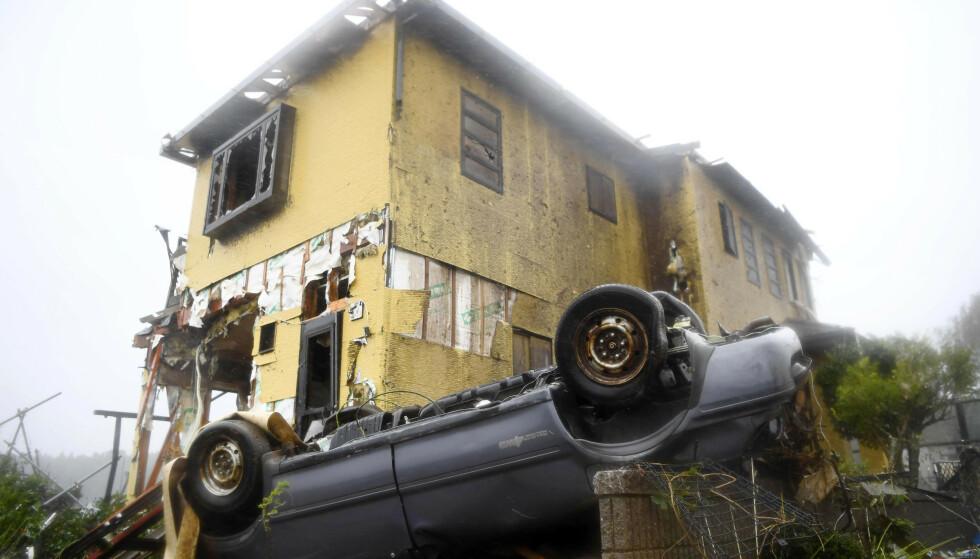 STORE SKADER: Tyfonen Hagibis har ført til store ødeleggelser i Japan, og minst to mennesker er omkommet. Foto: AP / NTB scanpix