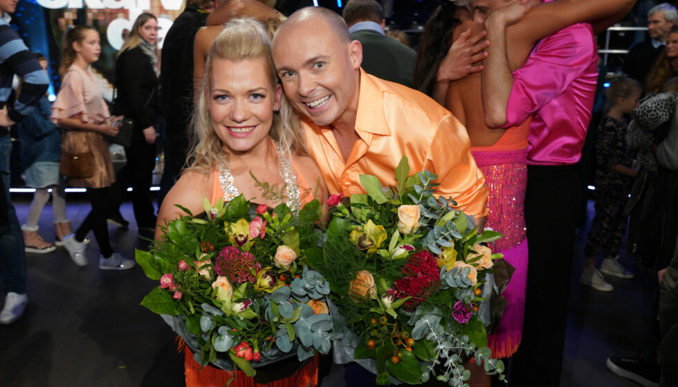 FORNØYDE: Sandra og Bjørn er stolte over egen innsats og glade for at de fikk bevist at alle kan delta. Foto: Espen Solli / TV 2