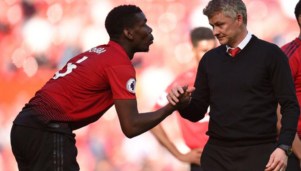 KJEMPER FOR Å BLI KLAR: Paul Pogba håper å rekke Liverpool-kampen. Foto: Oli SCARFF / AFP / NTB Scanpix