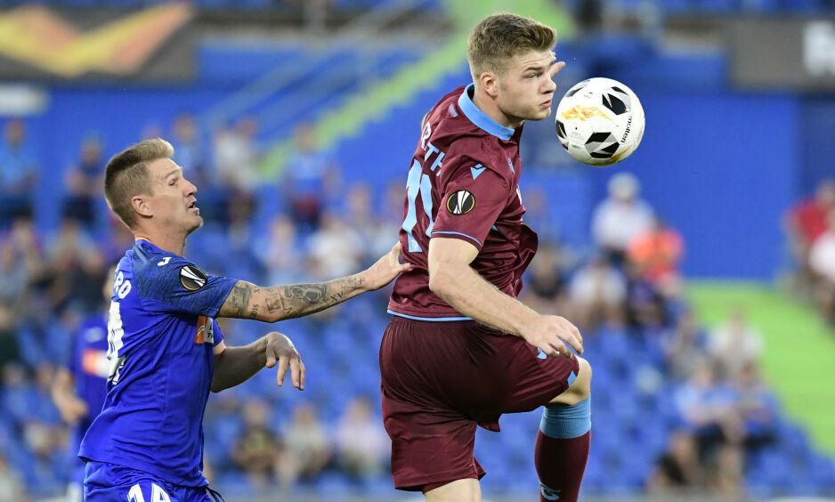 SCORET: Alexander Sørloth sikret uavgjort for Trabzonspor. Foto: JAVIER SORIANO / AFP / NTB Scanpix