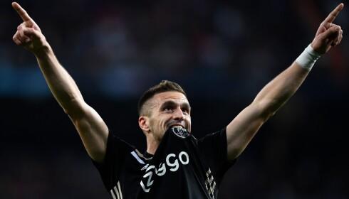 VERDENSSTJERNE: Dusan Tadic var helt enestående da Ajax lekte seg med blant annet Real Madrid og sjokkerte Fotball-Europa i Champions League i vår. Foto: GABRIEL BOUYS / AFP