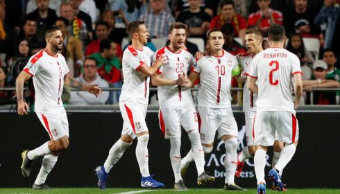 STJERNER: Dusan Tadic rystet Real Madrid og flere storlag i Champions League og Portugal tidligere i EM-kvalifiseringen. Han må Norge stoppe for å komme til EM. Foto: NTB Scanpix