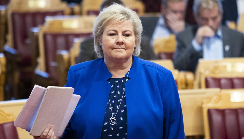 - AVSLØRT: Statsminister Erna Solbergs kutt i budsjettet avslører at regjeringen ikke har satt seg inn i hvordan kuttene slår ut, mener Ap. Foto: Berit Roald / NTB scanpix