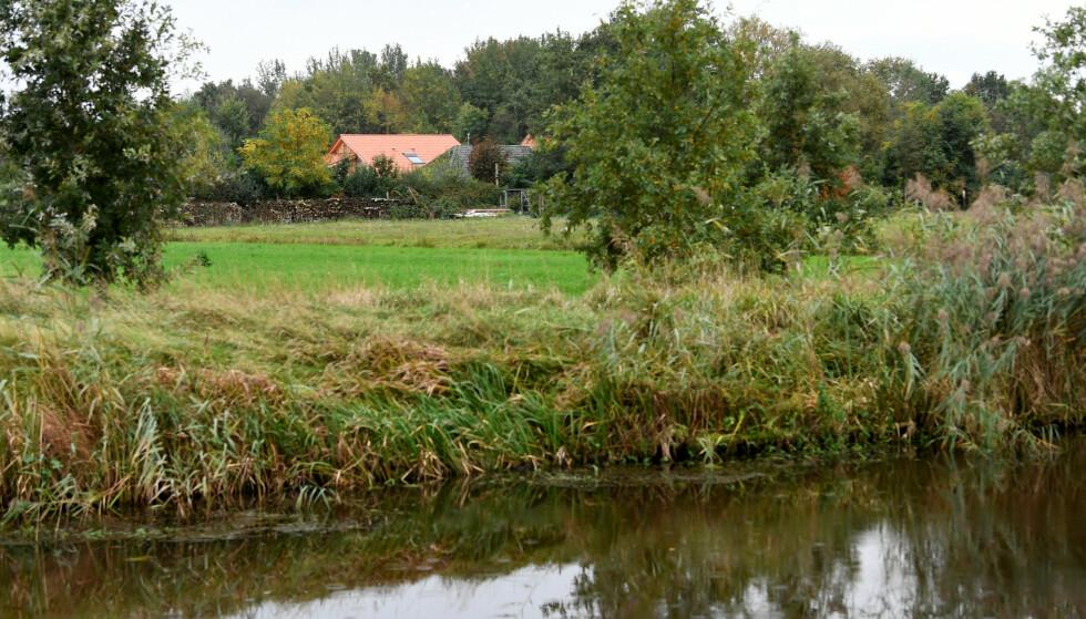 RUINERWOLD: Gården er omgitt av skog på tre sider og er skjermet av et gjerde og en hekk, slik at innsyn utenfra er vanskelig. Foto: REUTERS / Piroschka van de Wouw / NTB scanpix