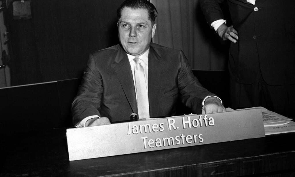 FORSVANT: Lederen for USAs største fagforening på 70-tallet, Jimmy Hoffa, forsvant sporløst i 1975. Nå kommer filmen basert på boken om Frank Sheeran, som skal ha innrømmet drapet. Foto: AP