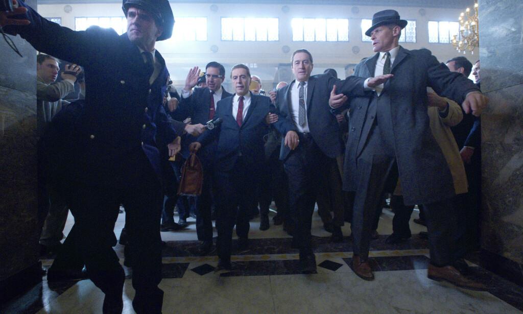 PREMIERE: Filmen «The Irishman» har premiere på Netflix i slutten av november og flere tror det kan bli en Oscar-favoritt. Foto: Splash News