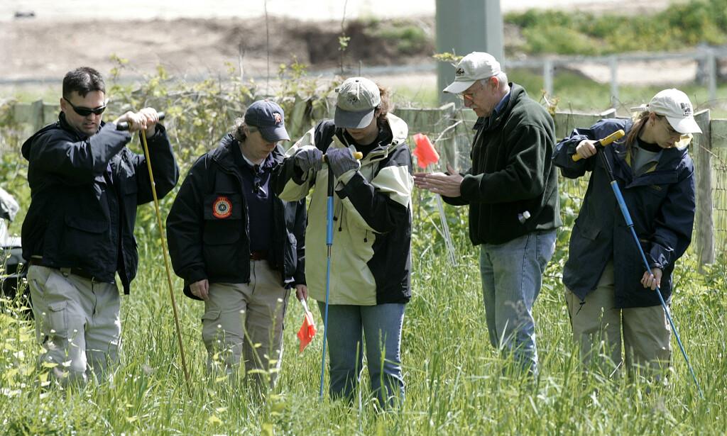 INGEN SPOR: Liket til Hoffa har aldri blitt funnet, selv om det har vært gjort flere runder med undersøkelser. Her fra en hestefarm i Michigan så sent som i 2006, 31 år etter han forsvant. Foto: Paul Sancya /AP Photo