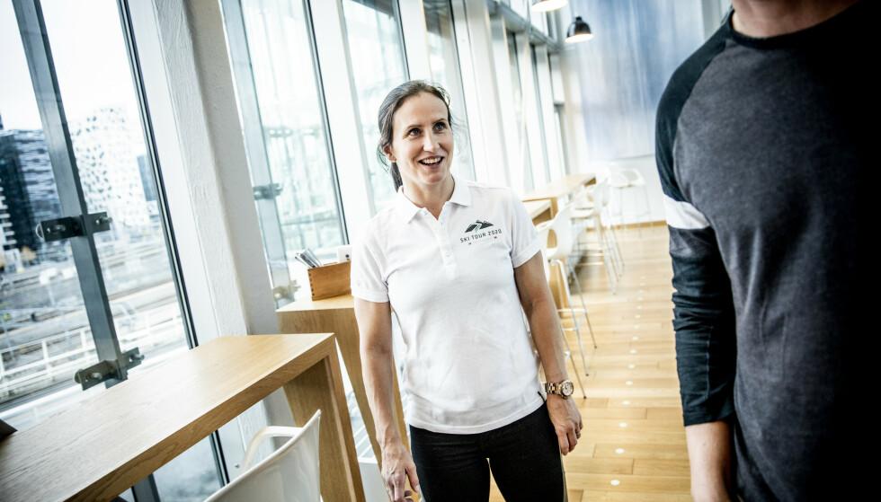 KLIMATILTAK: Marit Bjørgen er glad for at touren i Trondheim, Östersund, Åre og Meråker gjør flere klimatiltak. Bjørgen er ambassadør for SkiTour 2020. Foto: Christian Roth Christensen / Dagbladet
