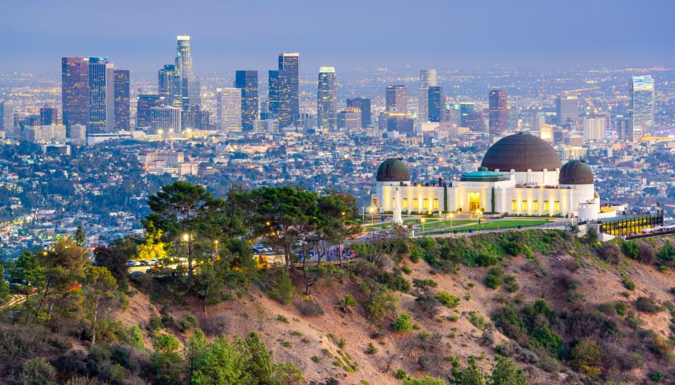 KOMMER DET STORE SKJELVET? Nye målinger gjort av jordskjelvforkastninger i California gir ekspertene grunn til bekymring. Her et oversiktsbilde av byen Los Angeles, California, fra Griffith-observatoriet. Foto: NTB Scanpix / Shutterstock