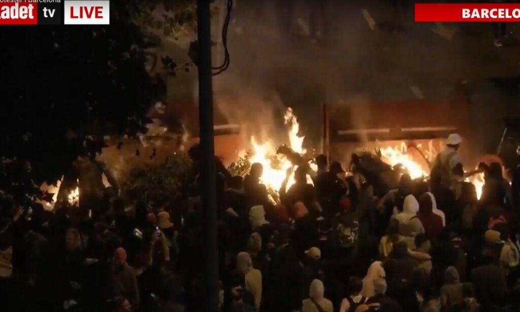image: Nye demonstrasjoner i Barcelona