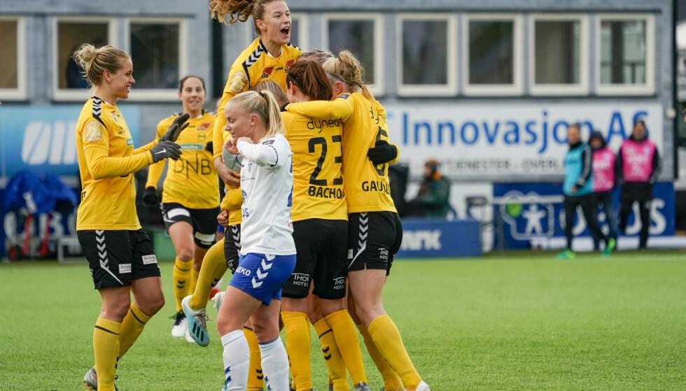JUBEL: LSK Kvinner fortsetter å dominere norsk fotball. Foto: Håkon Mosvold Larsen / NTB scanpix