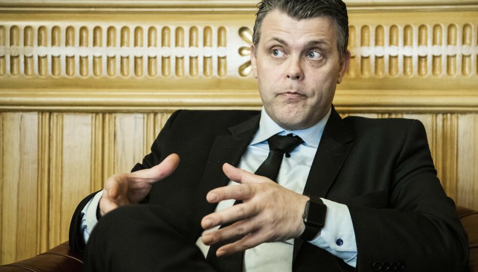 FOR SVAKT: Onkelen til justisminister Jøran Kallmyr (Frp) var blant ofrene denne helga. Det er likevel for svakt når den øverste ansvarlige innenfor feltet reagerer med moralsk panikk i møte med et dypt og komplekst samfunnsproblem som dette. Foto: Lars Eivind Bones / Dagbladet