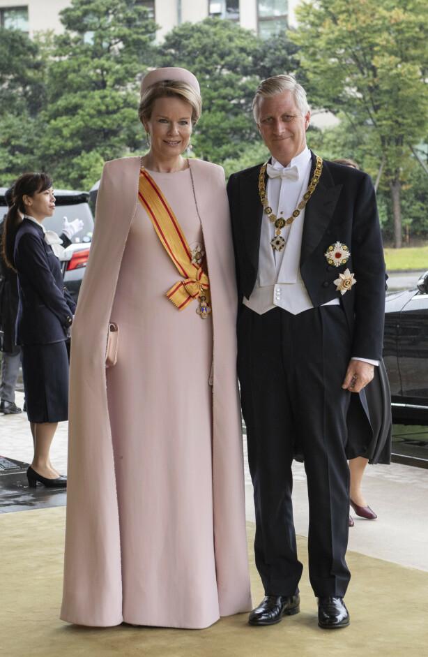 PÅ BESØK: Kong Philippe og dronning Mathilde av Belgia hadde tatt turen for å få med seg den store begivenheten. Foto: NTB scanpix