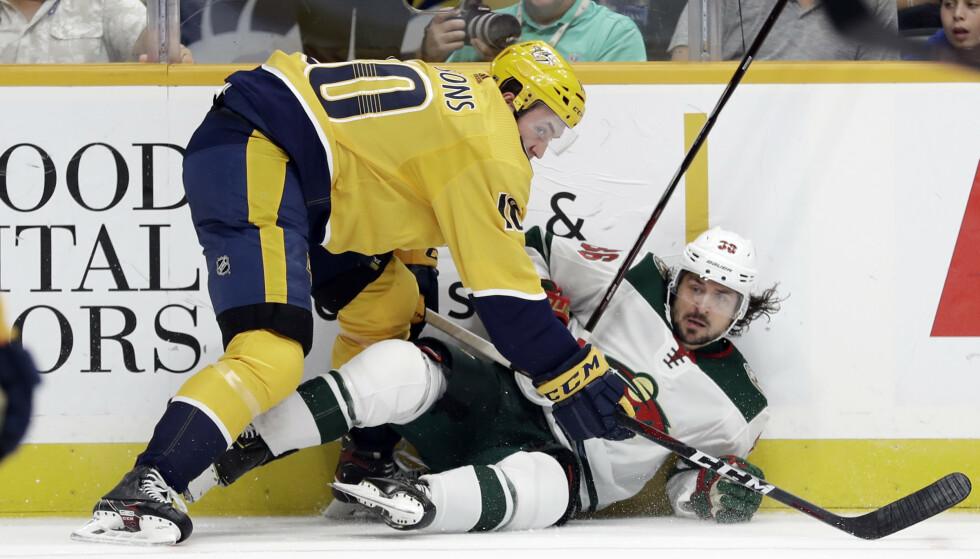 TILBAKE: Mats Zuccarello har slitt med skade, men nærmer seg comeback. Foto: Mark Humphrey / AP / NTB scanpix