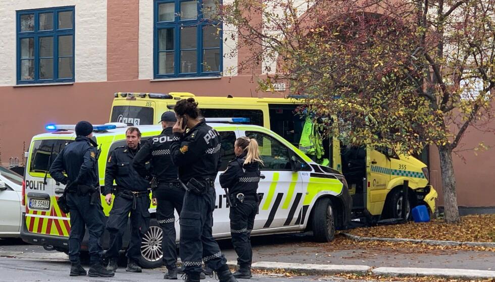 KRASJET HER: Her endte ambulansen. Foto: Nicolai Delebekk