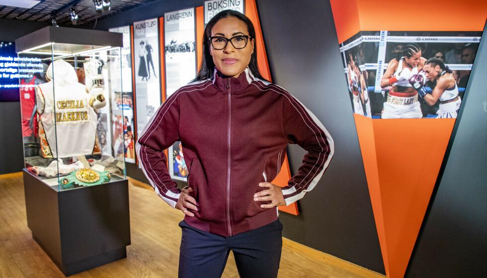 TILBAKE I RINGEN: Cecilia Brækhus har ikke gått en offisiell kamp siden desember 2018. Det blir forandret nå. Foto: NTB Scanpix