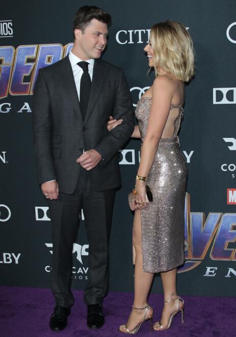 SPESIELT: Scarlett Johansson sammen med forloveden. Hun forteller at frieriet var svært personlig og spesielt. Foto: NTB Scanpix