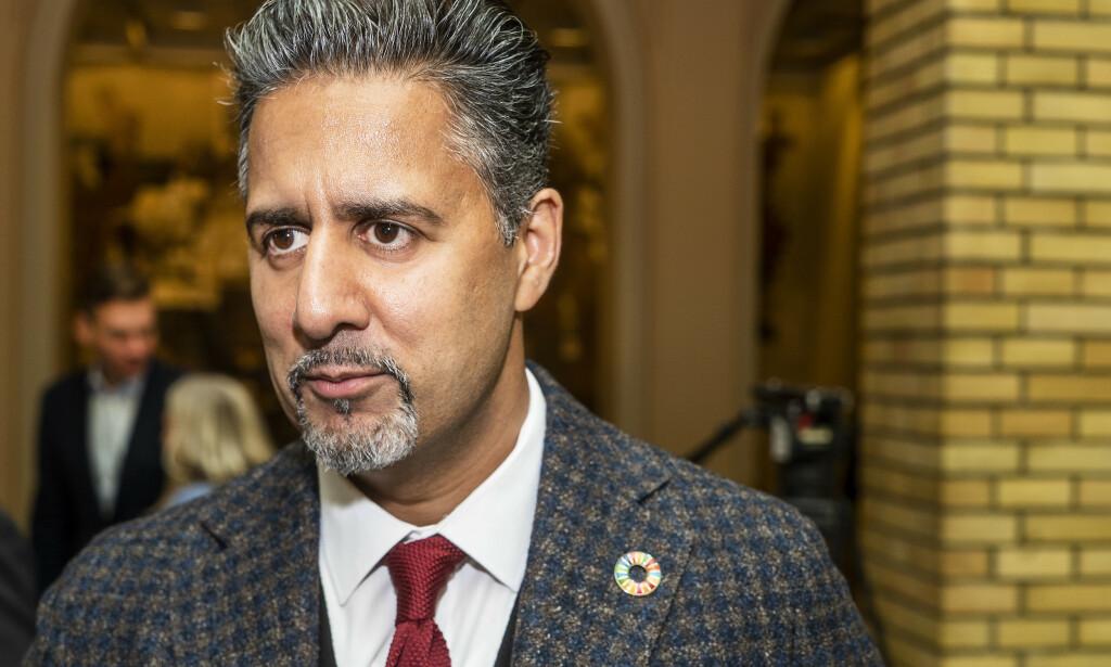 LEDERKAMP: Venstres stortingsrepresentant, Abid Raja, melder seg på kampen om å bli ny Venstre-leder. Foto: Hans Arne Vedlog / Dagbladet