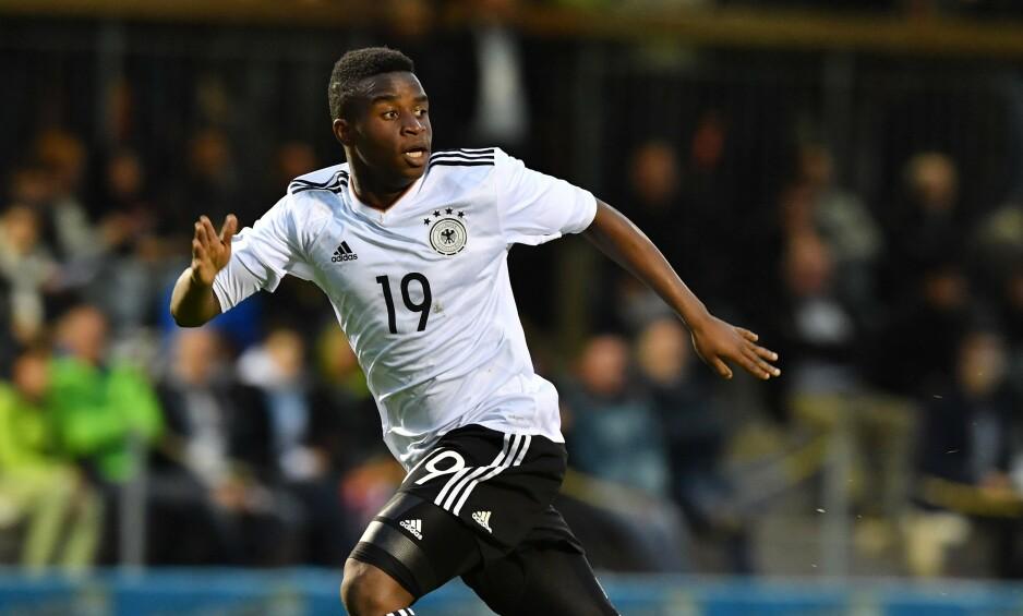 I AKSJON: Youssofa Moukoko har allerede representert Tyskland flere ganger på aldersbestemte landslag. Foto: AFP.