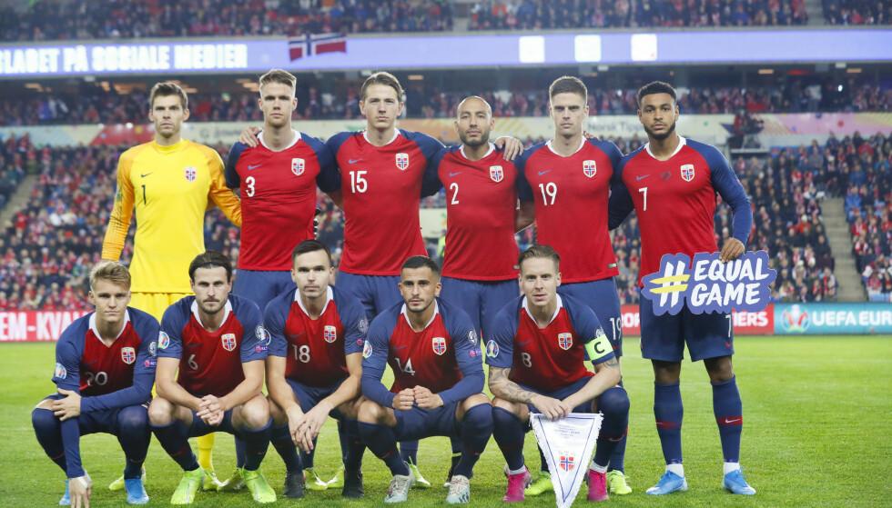 KLATRER: Norge rykket to plasser opp på siste FIFA-ranking. Foto: NTB scanpix