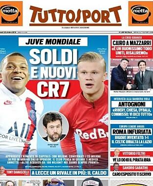 Pryder italiensk forside: - Jakter ny Ronaldo