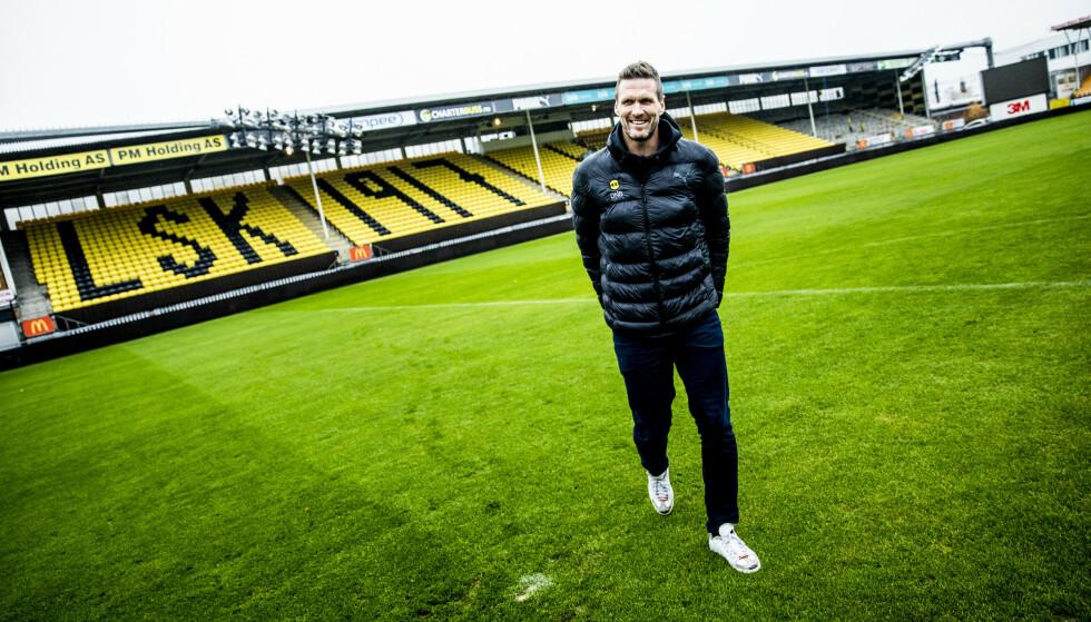SNART SLUTT: Frode Kippe har spilt lite fotball i det siste. Nå håper han å kunne være med å bidra de siste kampene for å sikre LSK spill i Eliteserien 2020. Foto: Christian Roth Christensen