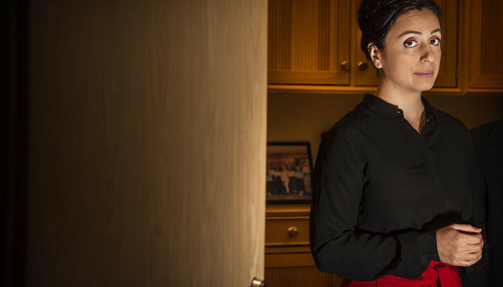 FØLGE MED: Aps nestleder Hadia Tajik ber NHO-sjefen ringe statsministeren framfor å rette klimakritikk mot alle politikerne på Stortinget.    Foto: Hans Arne Vedlog / Dagbladet