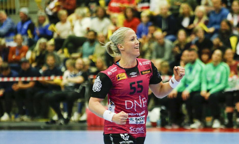 KLAR FOR SEMI: Vipers Heidi Løke, her fra mesterligakampen i håndball mellom Vipers Kristiansand og FTC Rail Cargo i Aquarama i Kristiansand. Foto: NTB Scanpix