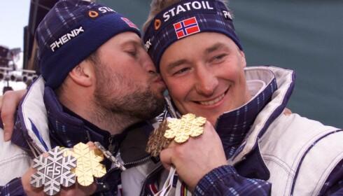FANTASTISK SESONG: Både Kjus og Aamodt hadde med seg edelt metall hjem fra VM i Vail i 1999. I totalcupen trakk Kjus det lengste strået. Foto: Arnt E. Folvik / Dagbladet