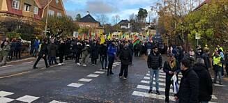 Slagsmål på Solli plass i forbindelse med demonstrasjoner
