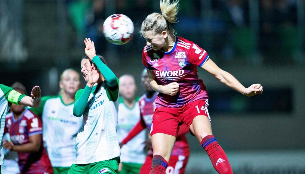NYTT MÅL: For Ada Hegerberg. Her fra CL-oppgjøret mot Fortuna tidligere i oktober.