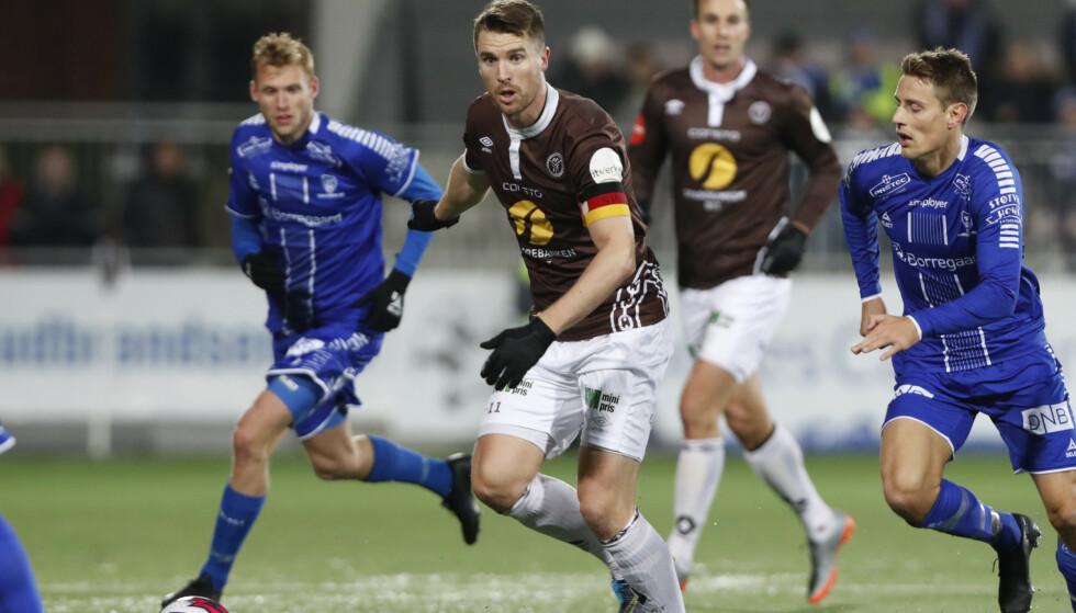 SLITER: Både Mjøndalen og Sarpsborg kjemper om tilværelsen. Foto: Terje Bendiksby / NTB scanpix