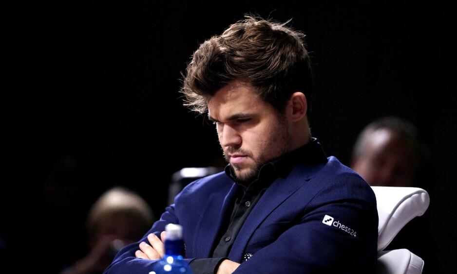 SEIER OG TAP: For Magnus Carlsen i VM. Foto: NTB Scanpix