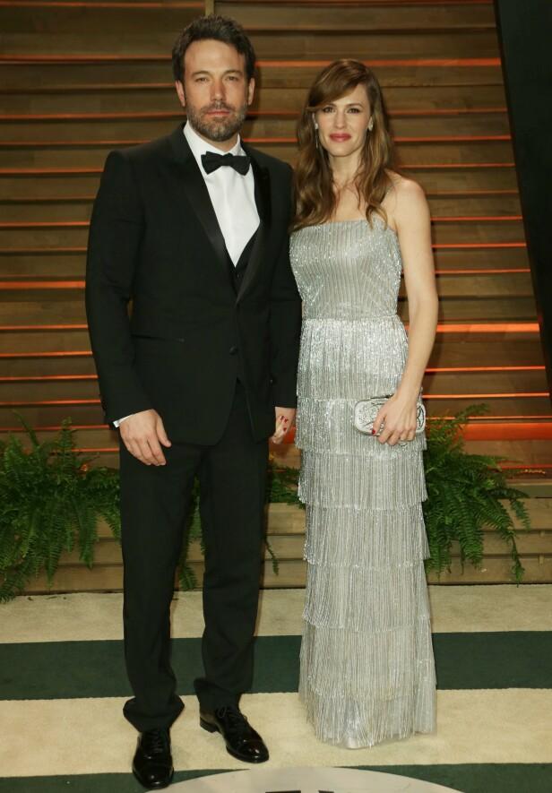 EKSER: Ben Affleck og Jennifer Garner har tre barn sammen, men finaliserte skilsmissen i fjor. Her sammen i 2014. Foto: NTB Scanpix