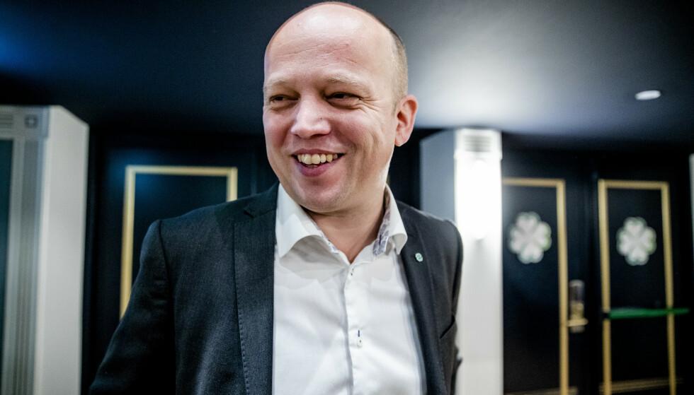 FLYR HØYT: Partileder Trygve Slagsvold Vedum forklarte partiets sammenhengende opptur med at de lytter til folk. Foto: Stian Lysberg Solum / NTB scanpix