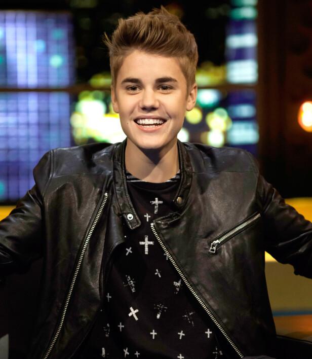 2012: Her er tenåringsidolet Justin Bieber avbildet samme år som han ble kåret til den tredje viktigste kjendisen i verden av Forbes. Foto: NTB Scanpix
