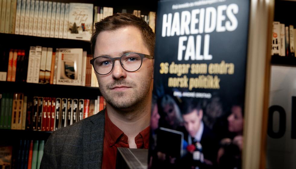 OPPGJØR: Emil André Erstad (28) var tett på Knut Arild Hareide gjennom hele KrFs skjebnehøst i fjor. Nå har han skrevet bok om de 36 dagene som rystet det politiske Norge. Foto: Kristin Svorte /Dagbladet