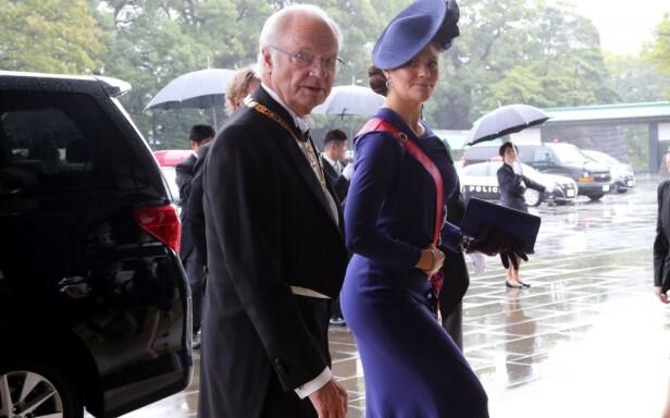 JAPAN: Forrige uke var kronprinsessa på besøk i Japan, da keiser Naruhito skulle krones. Foto: NTB scanpix