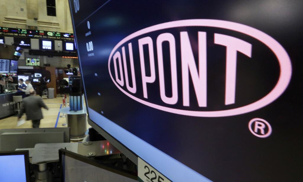 BYTTET: Amerikanske DuPont/Chemours byttet ut PFOA med stoffet Gen-X, men har likevel møtt mye kritikk. Foto: AP / NTB Scanpix
