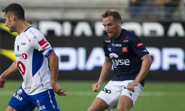 VIKTIG SPILLER: Kristoffer Løkberg har blitt en av Vikings mest sentrale spillere etter overgangen fra Brann. Foto: Carina Johansen / NTB Scanpix