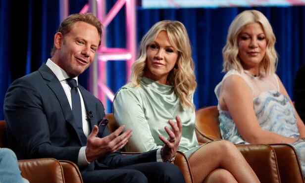 KOLLEGER: Også Zierings «Beverly Hills 90210»-kolleger, Jennie Garth og Tori Spelling, har hatt problemer i ekteskapene sine. Foto: NTB Scanpix