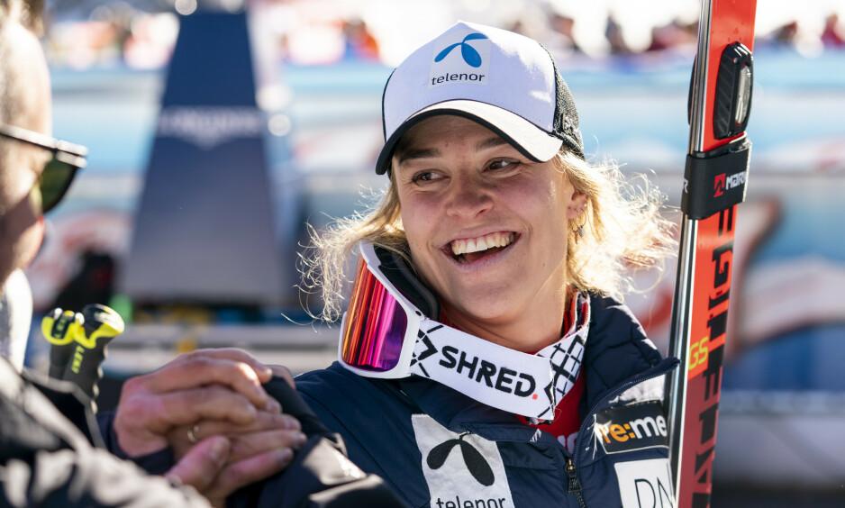 KARRIEREBESTE: Mina Fürst Holtmann endte på fjerdeplass i Sölden i Østerrike, og leverte dermed karrierebeste allerede i verdenscupåpningen. Foto: Tore Meek / NTB Scanpix