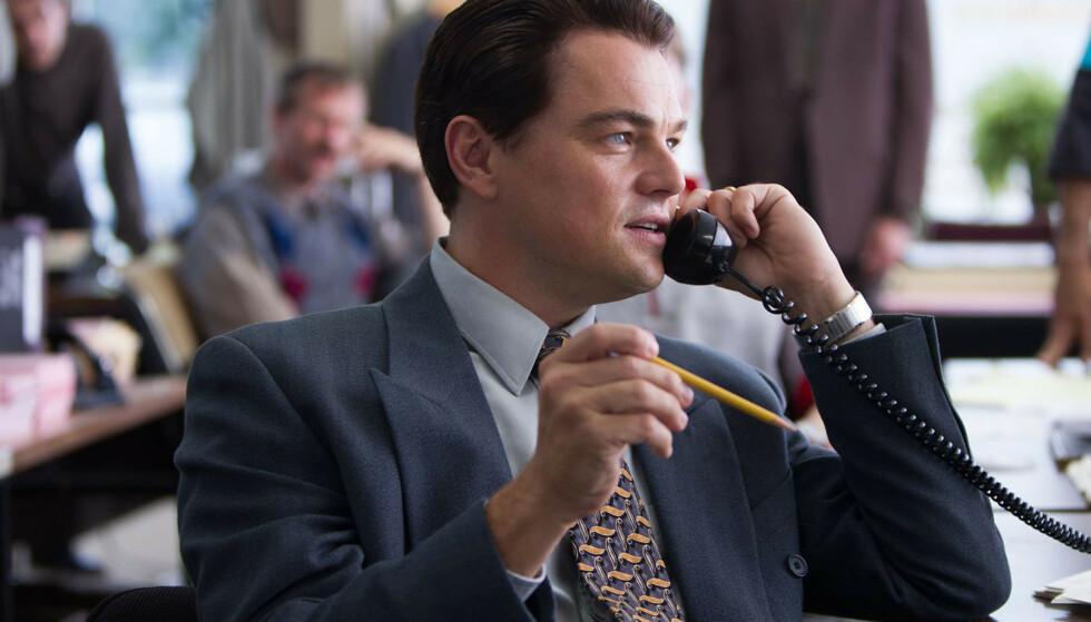 ROLLEMODELL: Leonardo DiCaprio i rollen som den skruppelløse Jordan Belfort i filmen The Wolf of Wall Street fra 2013. Foto: Moviestore/REX